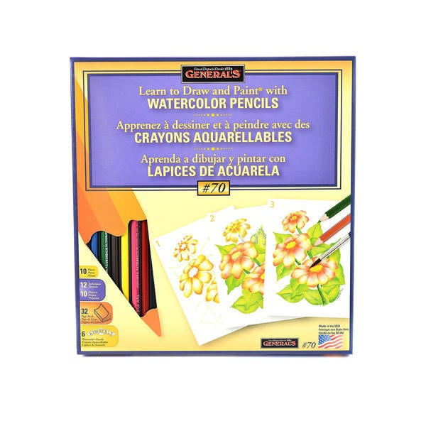 General's Learn Watercolor Pencil Techniques Now! Kit #70 (Pack of 2)