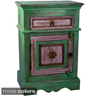 Teak Wood Bedside Storage Table (India)