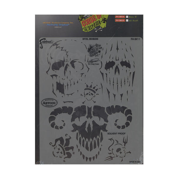 Artool Curse of Skull Master Freehand Airbrush Templates by Craig Fraser