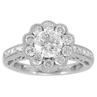 Suzy Levian 18k White Gold 2.658ct TDW Diamond Ring (J-K, I1-I2)