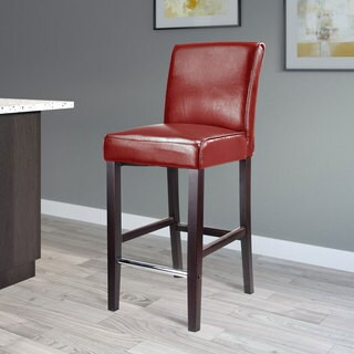 CorLiving Antonio Bar Height Barstool in Black Bonded Leather