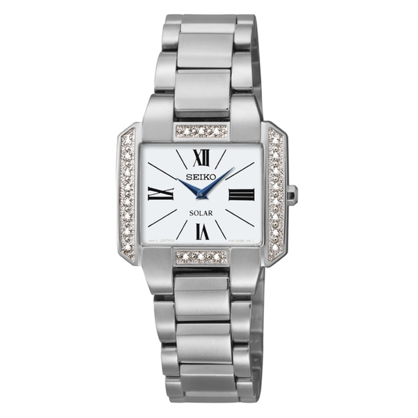 Seiko Women's SUP237 Solar-Powered Stainless Steel Watch
