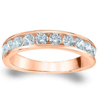 Amore Rose Gold 1ct TDW 11-stone Diamond Wedding Band (G-H, SI1-SI2)