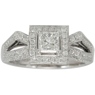 Suzy Levian 18k White Gold 1 1/3ct TDW Diamond Ring (F-G, SI1-SI2)