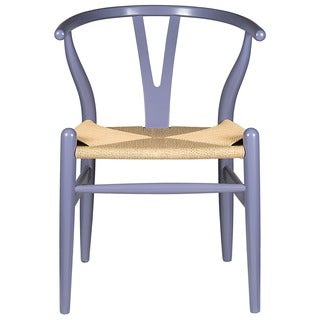 Edgemod Weave Wishbone Style Y Arm Chair in Grey/ Blue