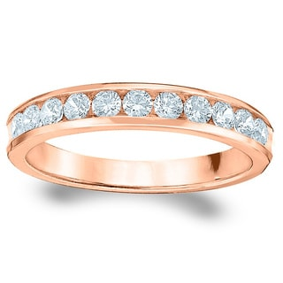 Amore Rose Gold 1/2ct TDW 11-Stone Diamond Wedding Band (G-H, SI1-SI2)