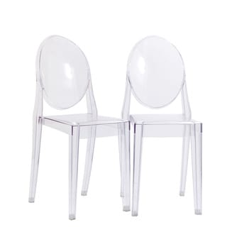 Burton Ghost Style Clear Side Chair (Set of 2)