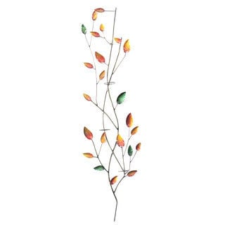 Iron Leaves Wall Décor with Votive Holder New Colors (Indonesia)