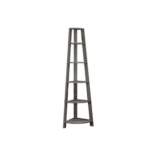 Dark Taupe Reclaimed Appearance 72-inch Corner Accent Etagere