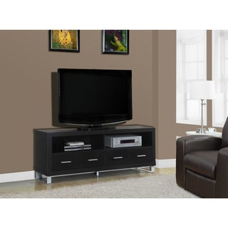 Cappuccino Hollow-core 4-drawer TV Console