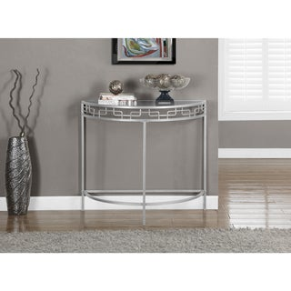 Silver Metal 36-inch Hall Console Accent Table