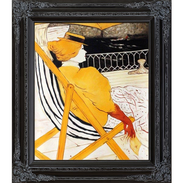 Henri Toulouse-Lautrec 'The Passenger in Cabin 54' Hand Painted Framed Canvas Art