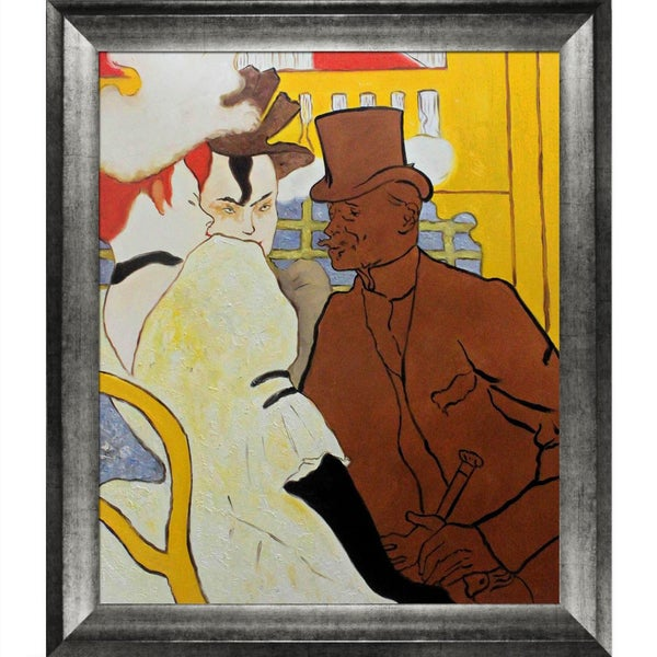 Henri Toulouse-Lautrec 'The Englishman at the Moulin Rouge' Hand Painted Framed Canvas Art