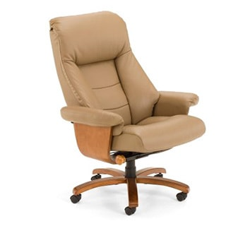 Mandal-S Sand Top Grain Leather Swivel Office Chair