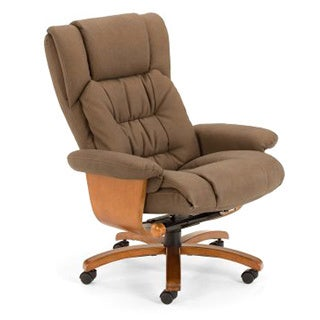 Vinci Tan Nubuck Bonded Leather Office Chair