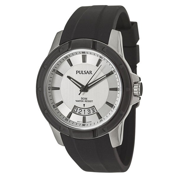 Pulsar Men's PS9277 'On The Go' Stainless Steel Quartz Watch