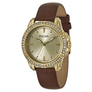 Pulsar Women's 'Night Out' Stainless Steel Yellow Goldtone Quartz Watch