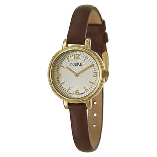 Pulsar Women's PM2088 'Easy Style' Stainless Steel Yellow Goldtone Quartz Watch