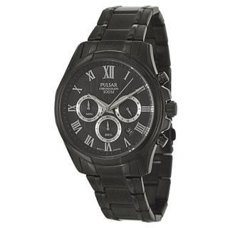 Pulsar Men's PT3401 'Business' Stainless Steel Black Ion Plated Quartz Watch