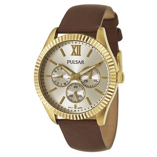 Pulsar Women's PP6144 'Business' Stainless Steel Yellow Goldtone Quartz Watch