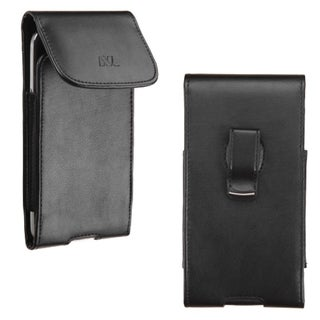 Insten Black Vertical Pouch with Magnetic Flip Belt Clip for Apple iPhone 6/ Samsung Galaxy Note 4