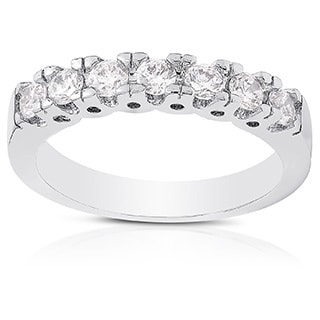 Dolce Giavonna Silver Overlay Cubic Zirconia Band Ring