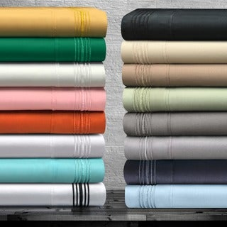 Wrinkle Resistant Embroidered 5-line Sheet Set with Gift Box
