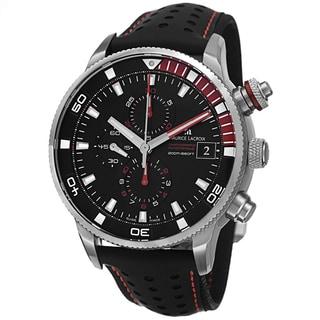 Maurice Lacroix Men's PT6009-SS001-330 'Pontos' Black Dial Chronograph Automatic Strap Watch