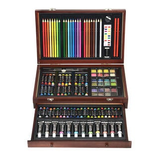 Art 101 119 Piece Wood Box Art Set with 1 Drawer