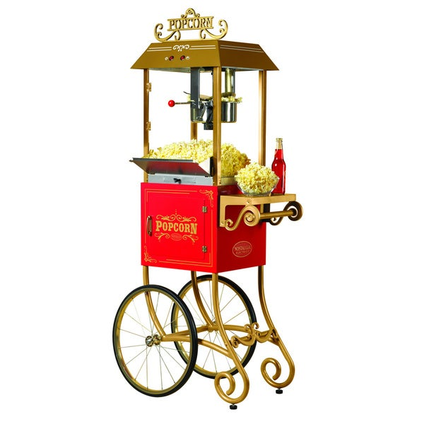 Nostalgia Electrics CCP900 Vintage Collection Kettle Popcorn Cart