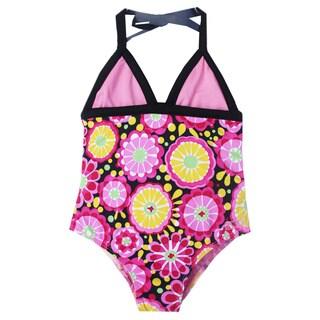 Azul Swimwear Girls' 'Fresh Blossom' Halter One Piece