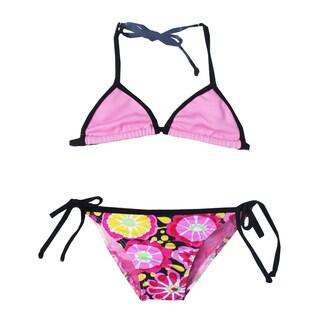Girls' Fresh Blossom Triangle Bikini Set