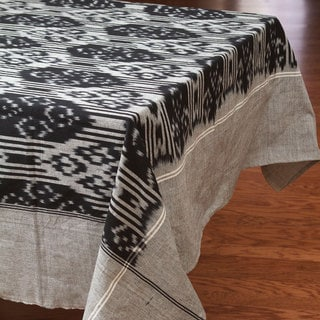 Ikat Silver Tablecloth (India)