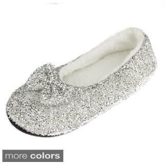 Leisureland Women's Glittery Slippers