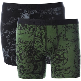 Seven7 Men's Black Printed Boxer Brief Set (2 Pairs)