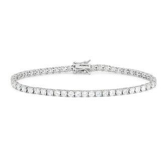 Gioelli Sterling Silver 5.5 TCW Round-cut Cubic Zirconia Tennis Bracelet
