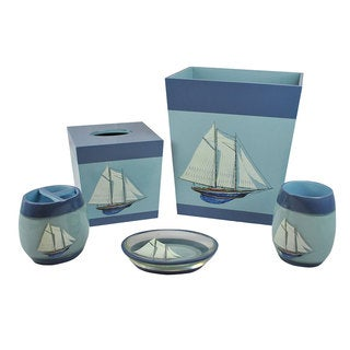 Sherry Kline Fair Harbor Bath Accesory 5-piece Set