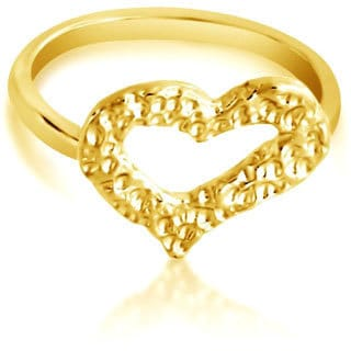 Belcho Hammered Heart Fashion Ring