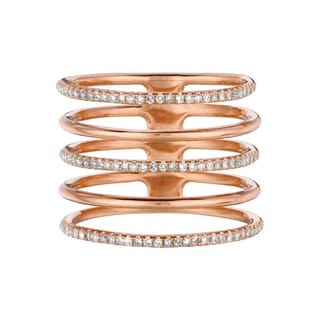 14k Rose Gold 1/3ct TDW Diamond Multi-row Ring (G-H, I1-I2)