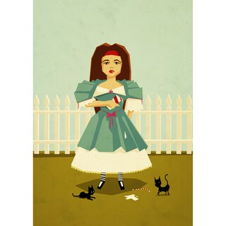 Epic Art Yetiland 'My Milkshake Brings All the Cats to the Yard' Unframed Giclee Print Art
