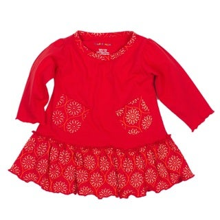 Girls' Paprika Sunburst Organic Pocket Dress