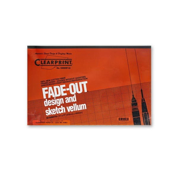 Clearprint Fade-Out Design and Sketch Vellum - Grid Pad