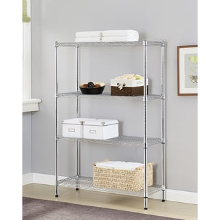 Excel Multi-purpose 4-tier Chrome Wire Shelving Unit