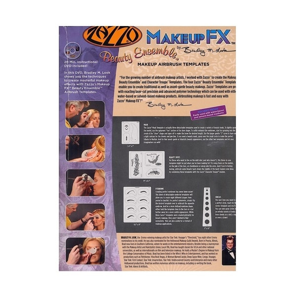 Artool Zazzo Makeup Masters Templates with DVD