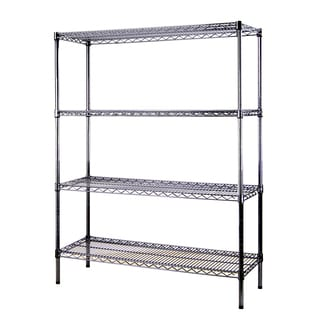 Excel Black (60 in. H x 48 in. W x 18 in. D) Multi-Purpose 4-tier Wire Shelving