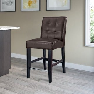 CorLiving Antonio Bonded Leather Counter Height Barstool