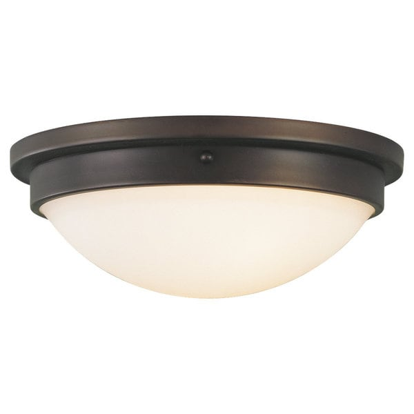 Boulevard 2-light Oil Rubbed Bronze Flush Mount Fixture 14467793