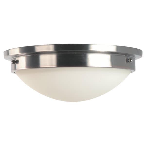 Gravity Brushed Steel 2-light Flush Mount Fixture