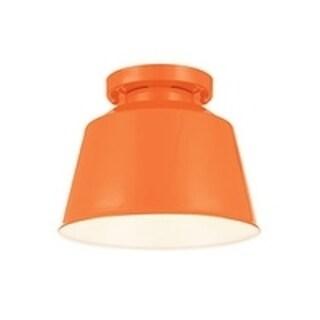 Freemont Semi Hi Gloss Orange 1-light Semi Flush Fixture