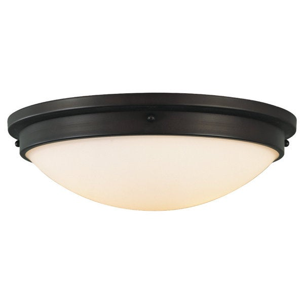 Boulevard Oil Rubbed Bronze 2-light Flush Mount Fixture 14467805